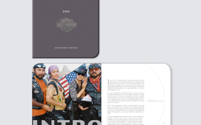 Harley Davidson Annual Report: Cover and Interior Design • Client (2 of 2): Personal Work